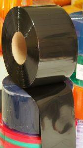 PVC Stripe CurtainBlack Opaq